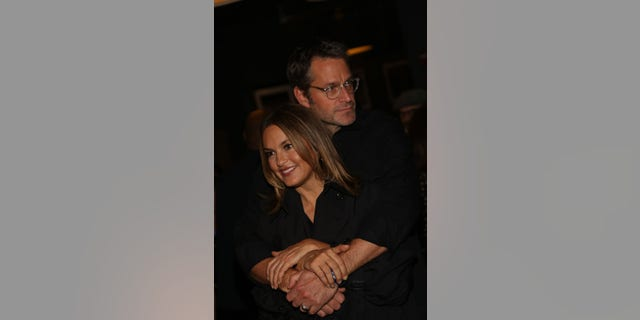 Mariska Hargitay and Peter Hermann on Nov. 5, 2018, in New York City. (Photo by Manny Carabel/Getty Images)