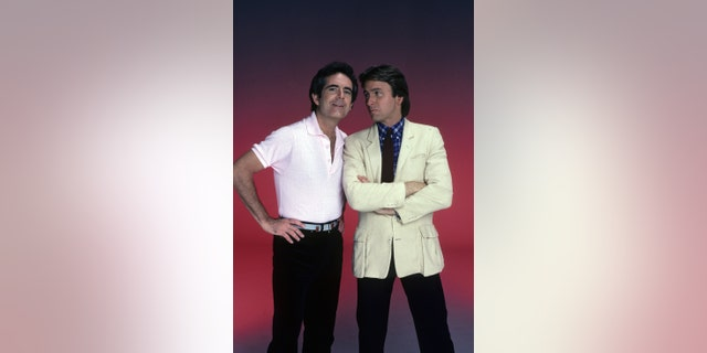 Richard Kline and John Ritter in September 1981. (Walt Disney Television via Getty Images Photo Archives/Walt Disney Television via Getty Images).