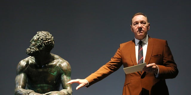Kevin Spacey recites poem in first public appearance since sexual misconduct allegations