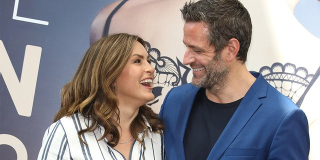 "Mariska Hargitay from the series ""Law & Order: SVU"" and actor Peter Hermann on June 17, 2018, in Monte-Carlo, Monaco. (Photo by Tony Barson/FilmMagic)"