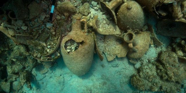The wrecks were found off the small Greek island of Levitha.
