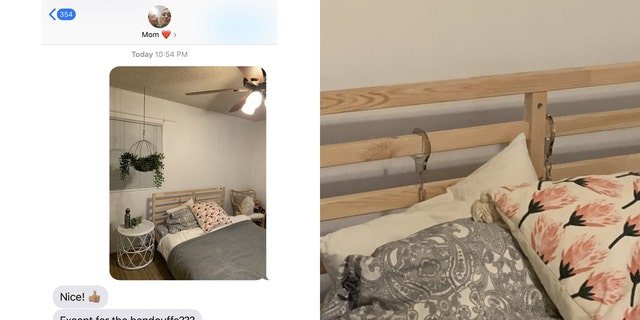One mom was quick to notice something out of the ordinary when her daughter sent her a picture of her new room.