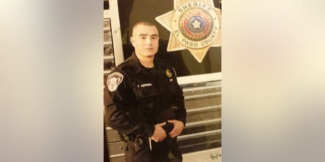 Peter Herrera living his childhood dream of wearing a badge.