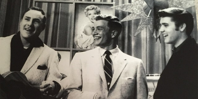 Wink Martindale (center) says he and Elvis Presley (right) became fast friends. — Courtesy of Wink Martindale
