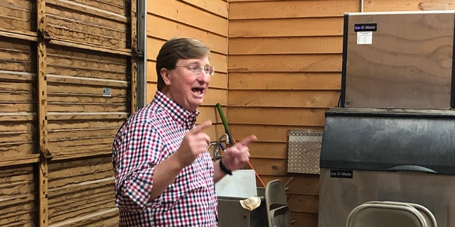 Tate Reeves urged a room full of supporters to vote for him in the August 27th Republican run-off. He said he's the strongest conservative who can fight off Democrats' attempts to take the governorship in November. (Fox News/Charles Watson)