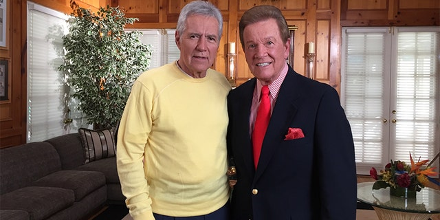 Wink Martindale with Alex Trebek. — Courtesy of Alex Trebek
