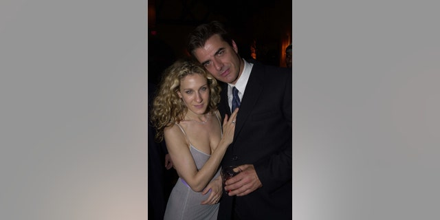 """Sarah Jessica Parker and Chris Noth during Season Premiere Party for """"Sex and the City"""" in Los Angeles, California, United States."""