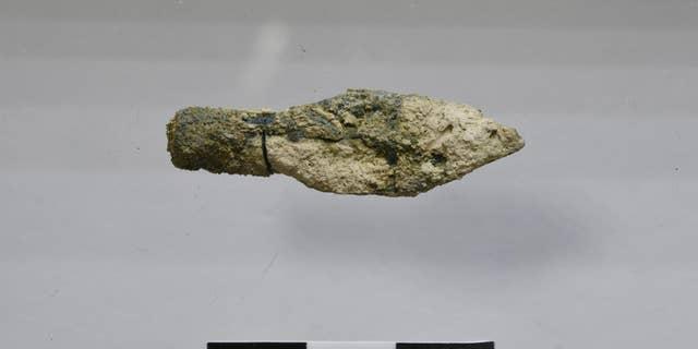 One of the Scythian-type arrowheads found on Jerusalem's Mount Zion.
