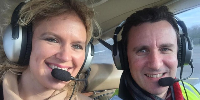 A young British family has died after their plane crashed in the Swiss Alps and burst into flames on Sunday.