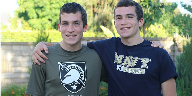 Twin brothers Joshua and Jacob Lowe are attending separate U.S. military academies. (Dave Lowe)