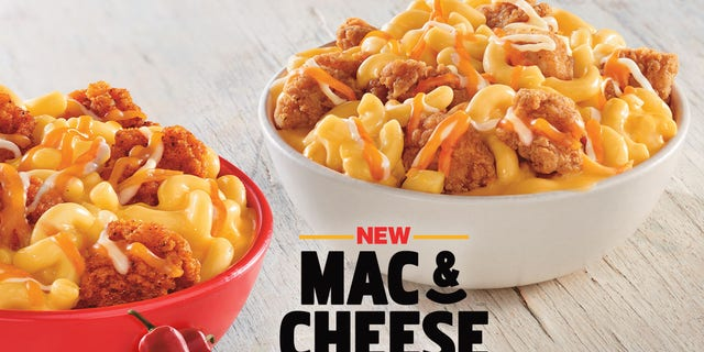 """The limited-time entrée is the latest in KFC food innovation, combining KFC's rich and creamy mac and cheese, topped with KFC's crispy popcorn chicken, and sprinkled with a three-cheese blend,"" a press release read."