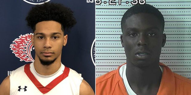 Lama Lee-Kane Jr. played basketball at University of the Southwest in Hobbs, New Mexico. Mugshot for Bishop Henderson, 19, who was charged with battery in connection with a shooting that left Lee-Kane and two others dead and four others wounded.