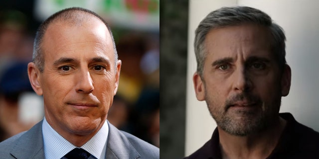 "What appears to be a fictional version of former NBC News host Matt Lauer is played by Steve Carell in ""The Morning Show."""