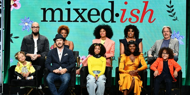"""The cast and producers of ABC's """"mixed-ish"""" address the press at the ABC Summer TCA 2019 at The Beverly Hilton in Beverly Hills, Calif."""