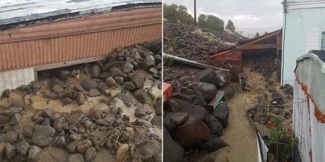 Three homes were left uninhabitable after a mudslide in a community in Washington state on Saturday.