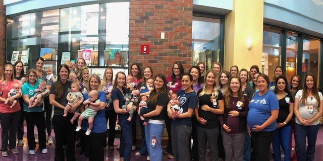 """It's a great support and there's always a mass of toddlers running around. And they're all getting to recognize each other, and that's fun,"" NICU nurse Michelle Janes said."
