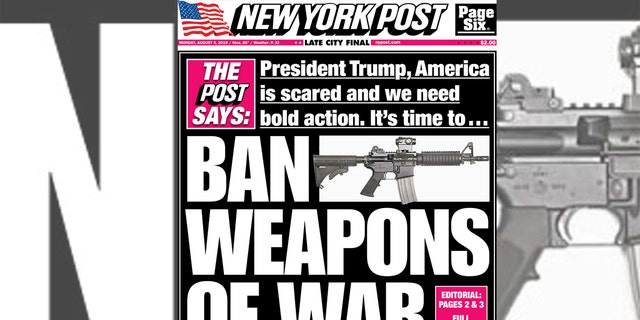"""The New York Post editorial called for """"bipartisan action"""" to come up with a prompt solution to gun violence."""