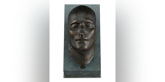 The bronze death mask is in the collection of New Orleans gallery M.S. Rau Antiques. (M.S. Rau Antiques)