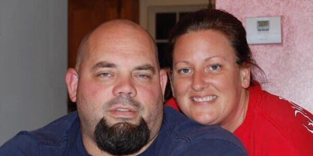 Montgomery County (Maryland) Police Officer Kyle Olinger with his wife, Jeana.