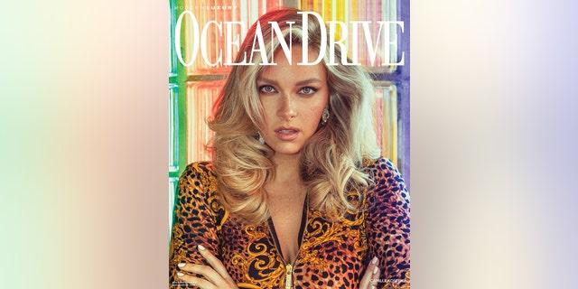 Camille Kostek is on the September 2019 issue of Ocean Drive magazine.
