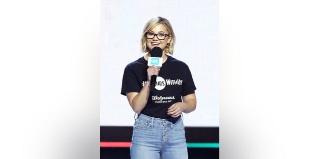 Olivia Holt speaks onstage at WE Day California at The Forum on April 25, 2019 in Inglewood, California. (Photo by Tommaso Boddi/Getty Images for WE Day)