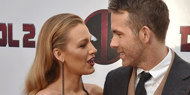 Actor Ryan Reynolds and his wife actress Blake Lively.
