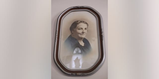 In this Aug. 9, 2019, photo a framed photograph of Rhoda Wise is displayed in Canton, Ohio.