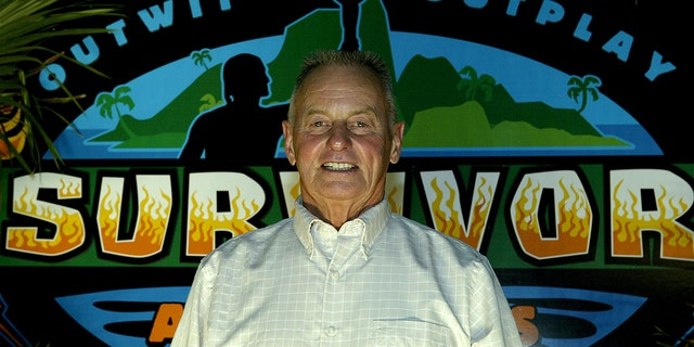 "Survivor All-star Rudy Boesch attended the ""Survivor All-Stars"" finale on May 9, 2004, at Madison Square Garden in New York City. (Photo by Paul Hawthorne/Getty Images)"