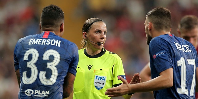 Stephanie Frappart makes history during European Super Cup