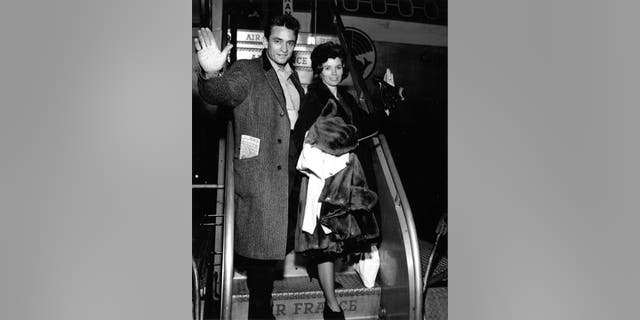 Johnny and June Carter Cash in an undated photo.