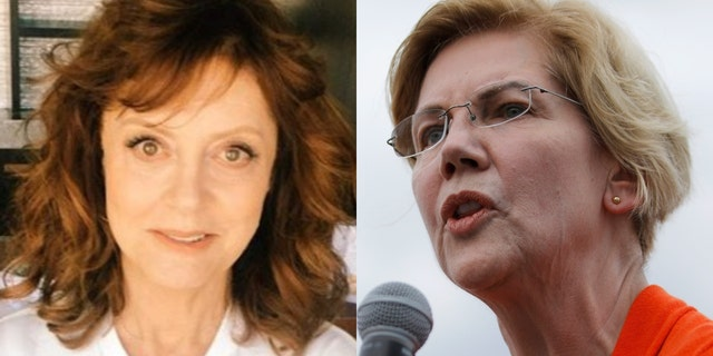 Actress Susan Sarandon and Sen. Elizabeth Warren (Photo: Instagram/AP Photo/John Locher, File)