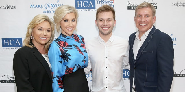 From left, Julie, Savannah, Chase and Todd Chrisley from reality show
