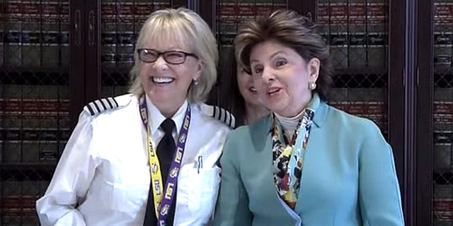 Pilot Shari Drerup, pictured left, is suing her one-time employer NetJets Inc., with the help of Gloria Allred, right, on grounds of gender discrimination.