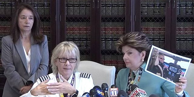 """Why was a male pilot offered that opportunity and Sherry denied it?"" Allred asked at a recent press conference."