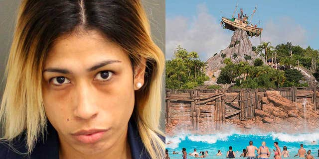 Shariel Agosto is accused of stealing credit cards and cash from Disney employees.
