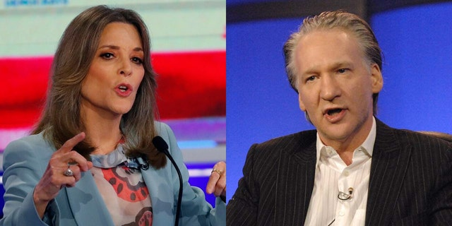 Marianne Williamson's candidacy now seems to interest comedian Bill Maher, who previously spoke of her as an also-ran.