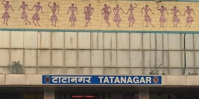 Tatanagar train station in India.