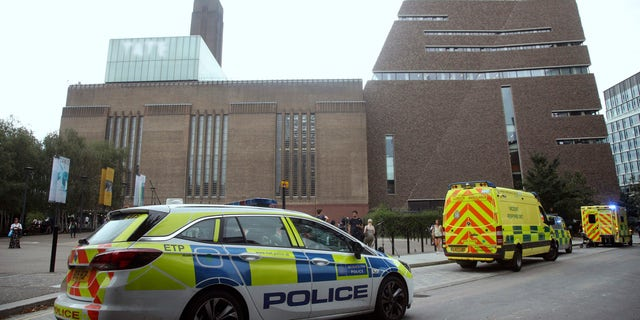 "London police said a teenager was arrested after a child ""fell from height"" at the Tate Modern art gallery."