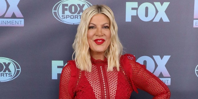 Tori Spelling attends the 2019 Fox Upfront at Wollman Rink, Central Park on May 13, 2019 in New York City. (Photo by Taylor Hill/FilmMagic)