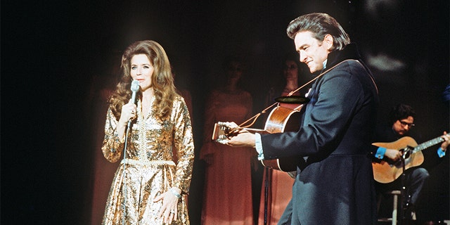 "UNITED STATES - FEBRUARY 26: JOHNNY CASH - ""The Johnny Cash Show"" - 2/26/71, June Carter Cash, Johnny Cash, (Photo by Walt Disney Television via Getty Images Photo Archives/Walt Disney Television via Getty Images)"