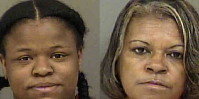 Brianna Leshay Wright, left, and her mother-in-law, Tanya Fuentes, right, were sentenced to 10 years and 2 years, respectively, in prison for sex trafficking.