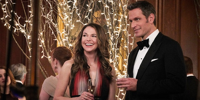 "Peter Hermann filming a scene with Sutton Foster in ""Younger."" — TV Land"