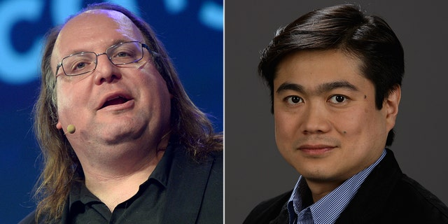 Ethan Zuckerman, director of the lab's Center for Civic Media at the Massachusetts Institute of Technology, left, said director Joi Ito, right, failed to disclose that deceased financier Jeffrey Epstein funded the research center. (Getty)