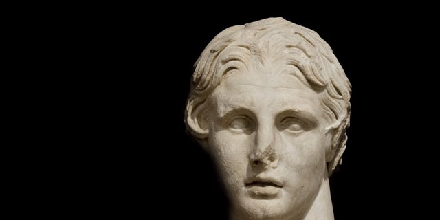 The bust of Alexander the Great at Istanbul Archeology Museum in Turkey.