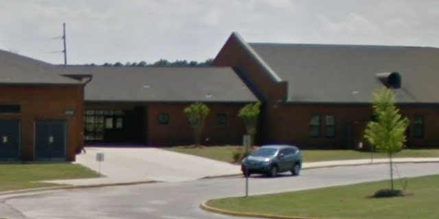 Blount Elementary School in Montgomery, Ala. Two men are in custody Thursday, police say, after shots were fired outside the school. (Google Maps)