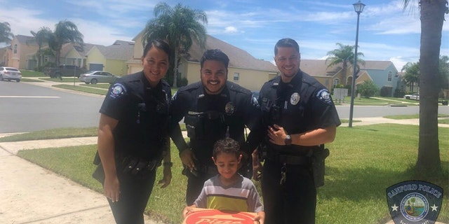 A young Florida boy called 911 and told dispatchers that he was hungry and wanted to order a pizza, the Sanford Police Department says.