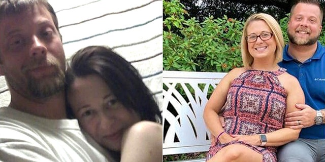 The couple, pictured left still addicted to meth, and right nearly three years sober, said if the post helps one person it'll be worth it.(Courtesy of Brent Walker)