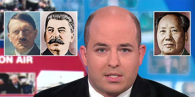 CNN's Brian Stelter allowed a guest to suggest that President Trump many be reasonable for more deaths thanbrutal dictators AdolfHitler, JosephStalin and Mao Zedong.