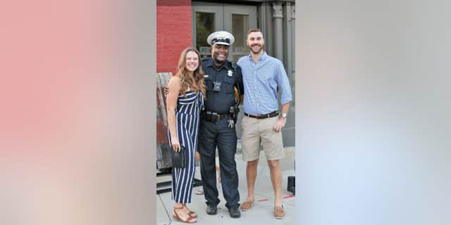 """""""The public is quickly and consistently made aware of presumed indiscretions or missteps by law enforcement officers,"""" the bride-to-be's mother wrote.""""Seldom are citizens made aware of the positive actions of police officers."""""""