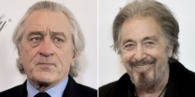 De Niro, left, and Pacino, right, are being digitally de-aged in Martin Scorsese's